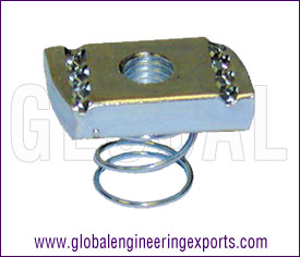 Channel Nut with Short Spring manufacturers exporters suppliers in india punjab ludhiana