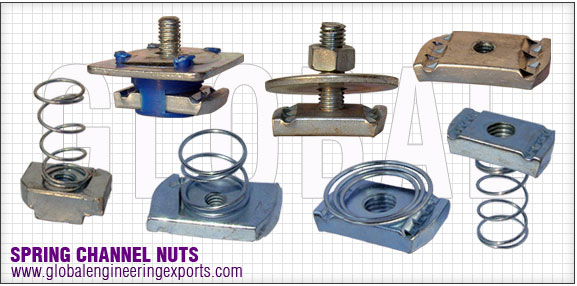 spring channel nuts strut nuts manufacturers exporters distributors suppliers in india punjab ludhiana