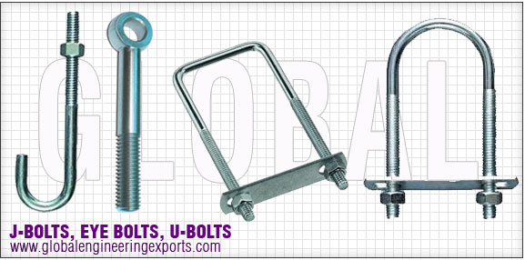 J bolts U bolts L bolts eye bolts foundation bolts  manufacturers exporters distributors suppliers in india punjab ludhiana